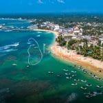 Aerial. Hikkaduwa beach. Sri Lanka