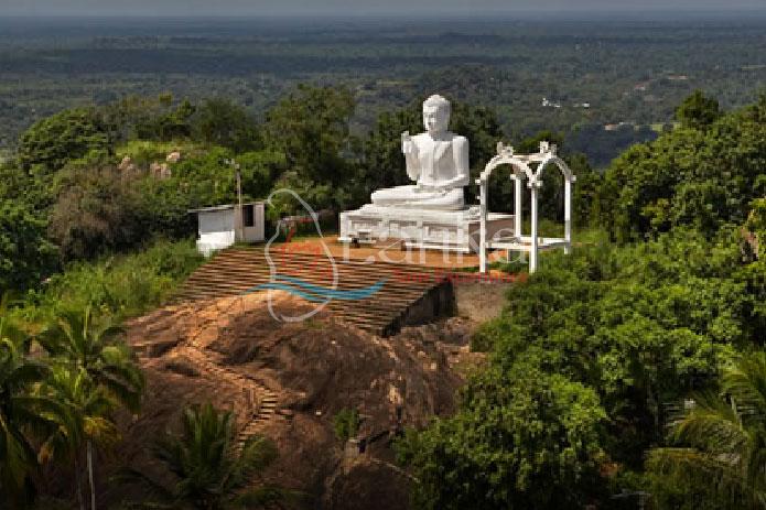 Mihintale,-The-great-Seated Buddha at Mihintale, Anuradhapura